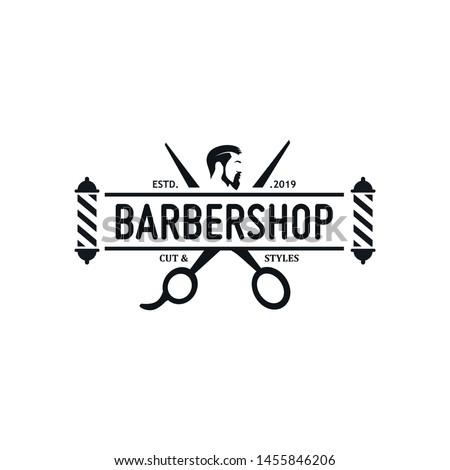 Vintage Barbershop Logo Vector Template