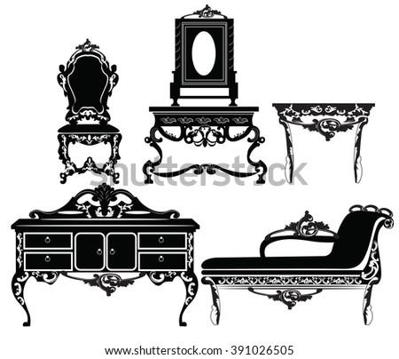 vintage baroque furniture set