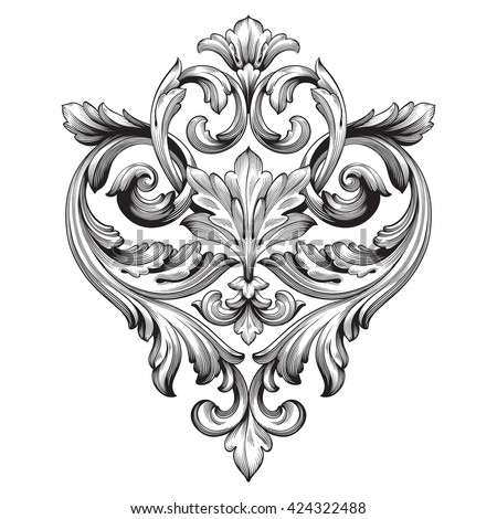 royalty free stock photos and images vintage baroque ornament retro pattern antique style crown vector art crown vector free