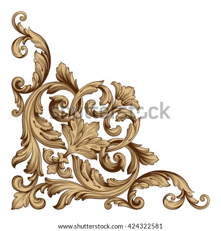 Shutterstock puzzlepix for Baroque design elements