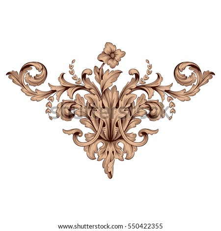 vintage baroque ornament retro
