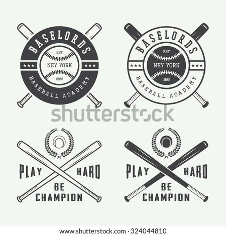 vintage baseball logos  emblems