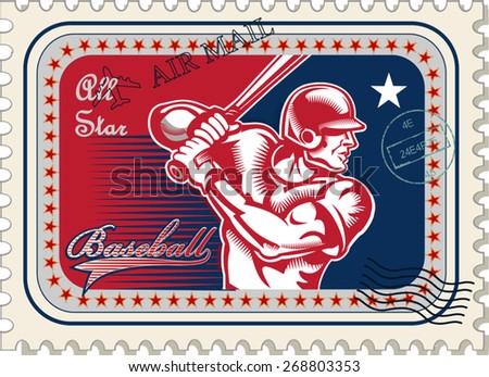 Vintage baseball vector
