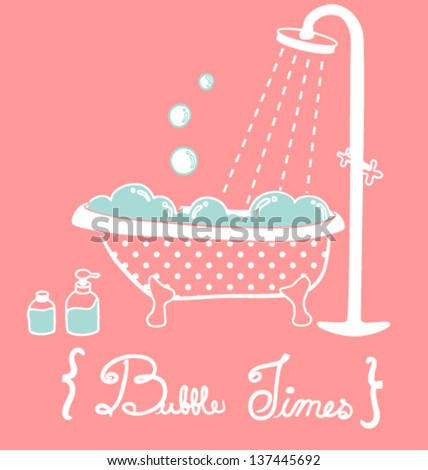 Stock Photo Vintage Bathtub- Vector File EPS10