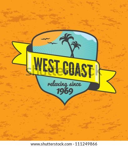 vintage beach emblem