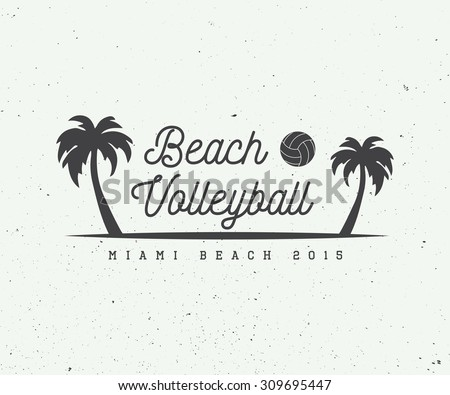vintage beach volleyball label