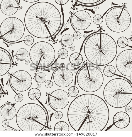 vintage bicycle seamless wallpaper eps8 no transparencies ideal for prints