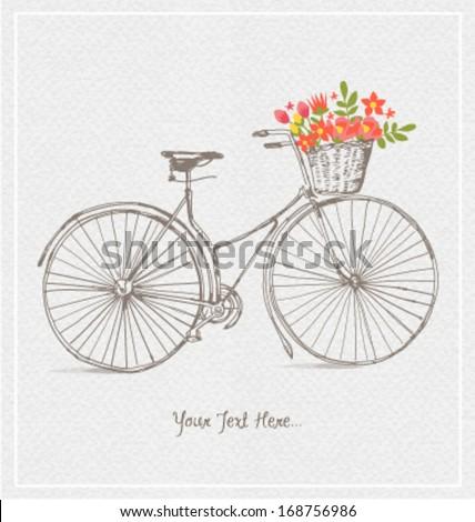 vintage bicycles with basket...