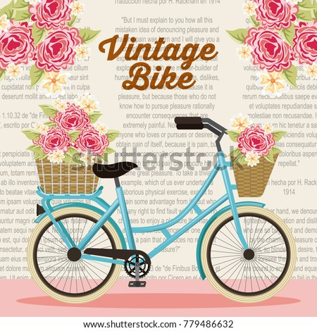 vintage bike basket flowers