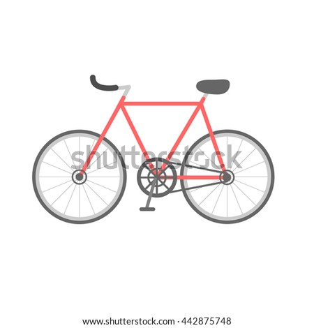 Vintage bike Fixed gear Simple Flat design
