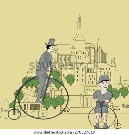 vintage bikes on saint michel