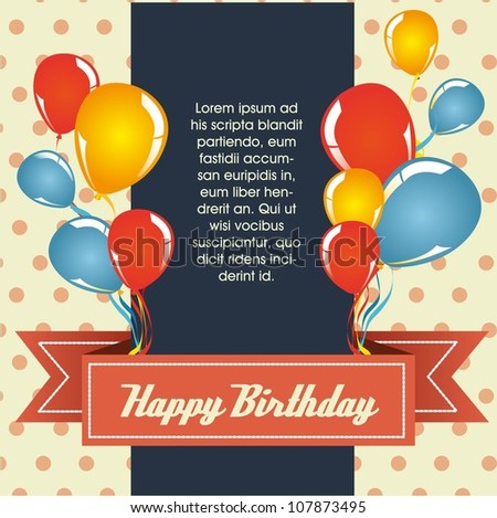 Birthday Card Design Download Free Vector Art Graphics – Birthday Card with Pictures