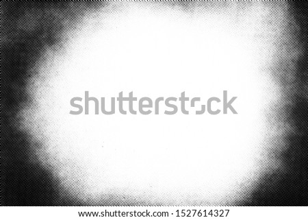 Vintage black and white halftone vector texture. Abstract splattered background for vignette overlay effect Сток-фото ©