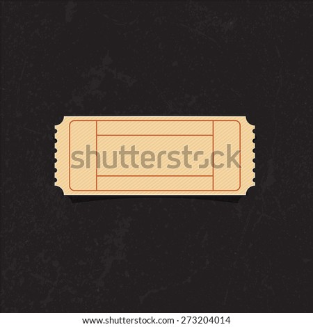 vintage blank cinema ticket