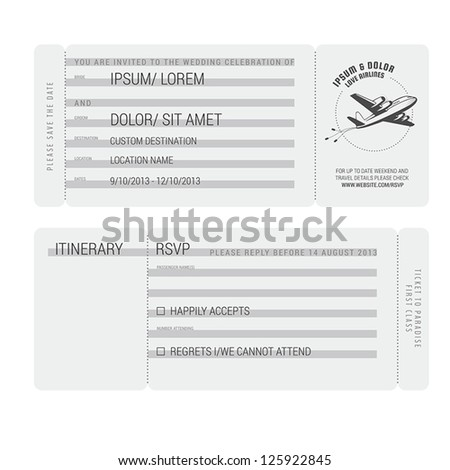vintage boarding pass stylized