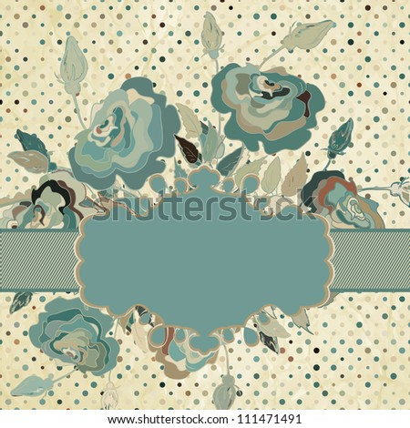 Vintage border set with rose. And also includes EPS 8 vector