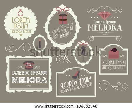 vintage borders/frames vector/illustration