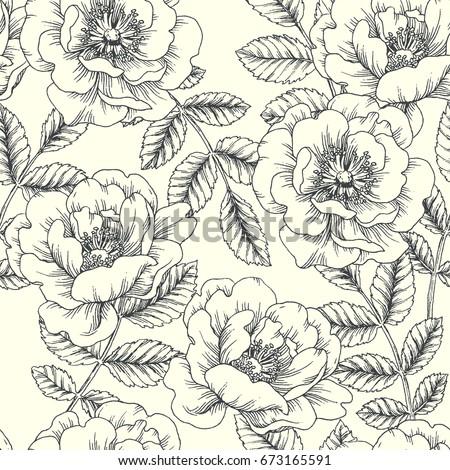 vintage botanical seamless
