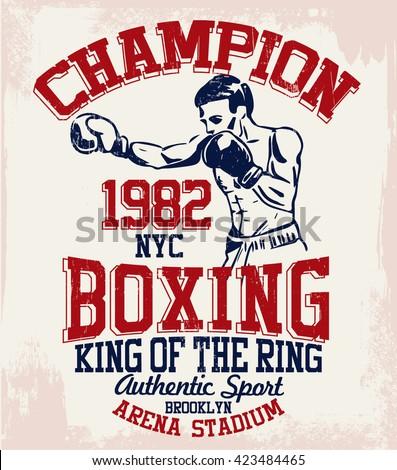 vintage boxer vector...