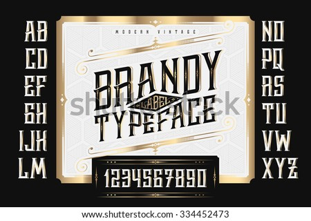 vintage brandy label typeface