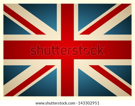 vintage british flag vector