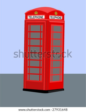 Vintage British Telephone Booth