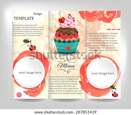 Company Brochure Template With Colorful Shapes Download Free - Bakery brochure template