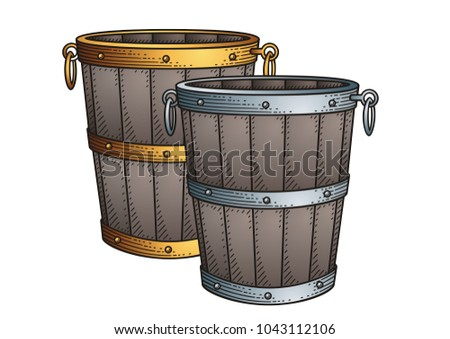 Vintage Bucket  vector