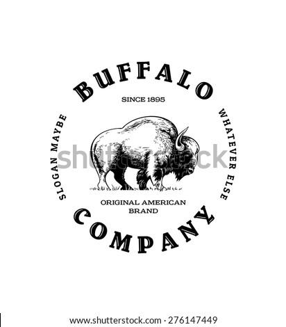 Vintage Buffalo Logo