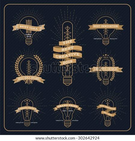 vintage bulb creative and idea...