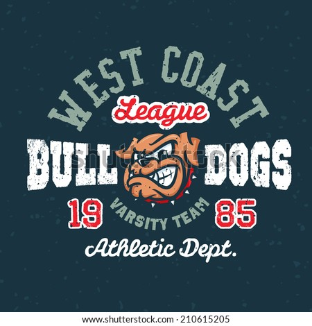 vintage bulldogs textured