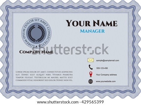 Vintage Business Card. Customizable, Easy to edit and change colors. Excellent design. With complex background.