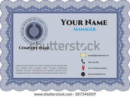 Vintage Business Card. Customizable, Easy to edit and change colors. With complex background. Excellent design.