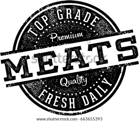 Vintage Butcher Shop Meats Sign