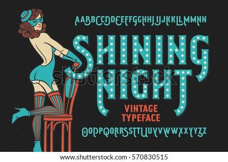 vintage cabaret style font with