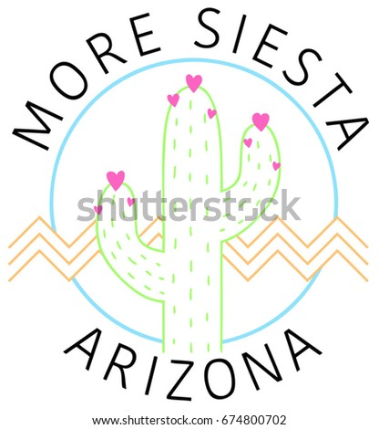 vintage cactus graphic with ...