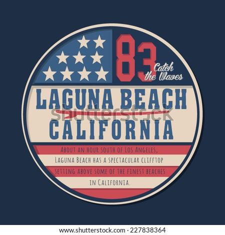 vintage california beach