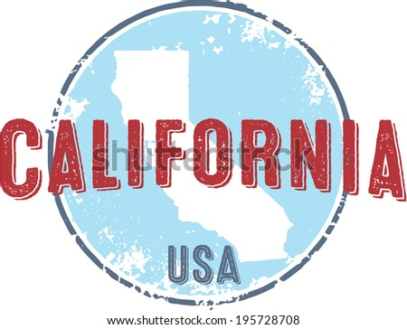vintage california state usa...