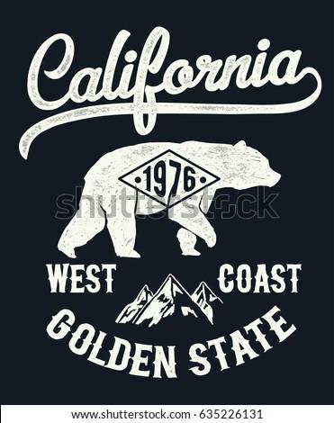 vintage california typography...