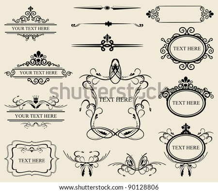 Vintage calligraphic design elements - stock vector