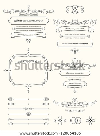 Vintage Calligraphy Design Elements Two #128864185