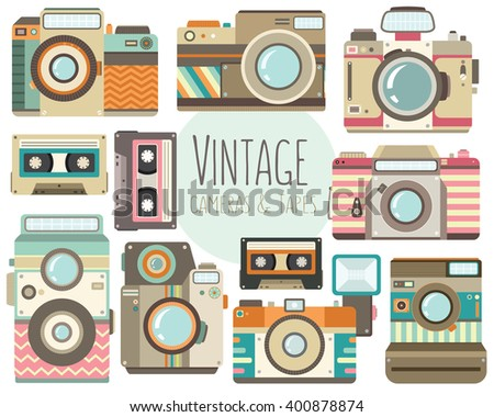 vintage cameras and retro...