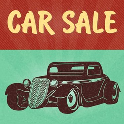Vintage car design flyer