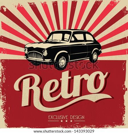 vintage car design flyer  ...