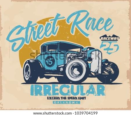 vintage car  hot rod garage