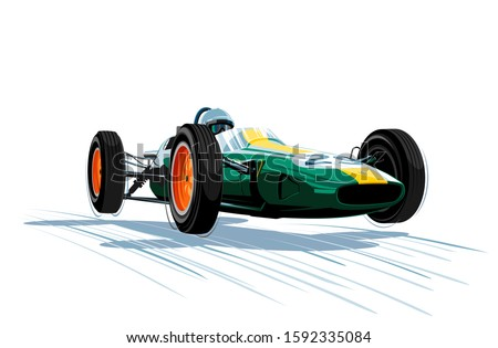 vintage car  racing car
