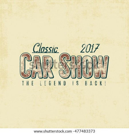 vintage car show typography...