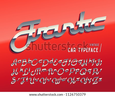 vintage car typeface named