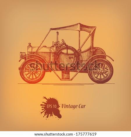 vintage car. vector format