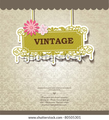vintage card design for greeting card invitation menu cover..